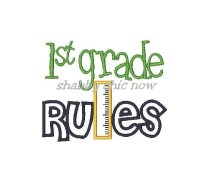 1st grade RULES