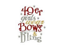 49er girls wear Bows & Bling