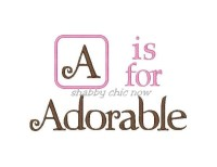 A is for Adorable Applique