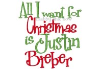 All I want for Christmas is Justin Bieber