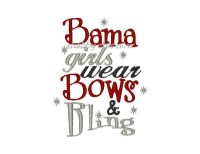 Bama girls wear Bows & Bling