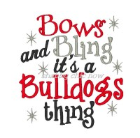 Bows and Bling it's a Bulldogs thing