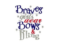 Braves girls wear Bows & Bling