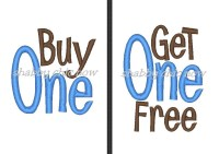 Buy One Get One Free          (for Twins)