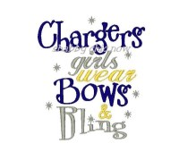 Chargers girls wear Bows & Bling