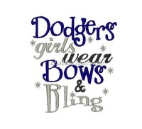 Dodgers girls wear Bows & Bling
