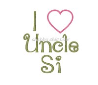 I love Uncle Si Applique (girl version)