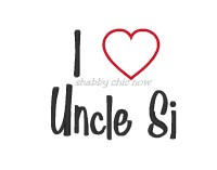 I love Uncle Si Applique (boy version)