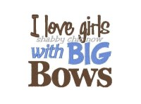I love girls with BIG BOWS