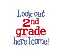 Look out 2nd grade here I come!