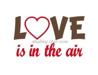 LOVE is in the air Applique