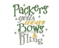 Packers girls wear Bows & Bling