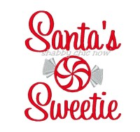 Santa's Sweetie Applique