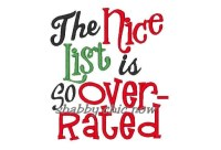 The Nice list is so overrated