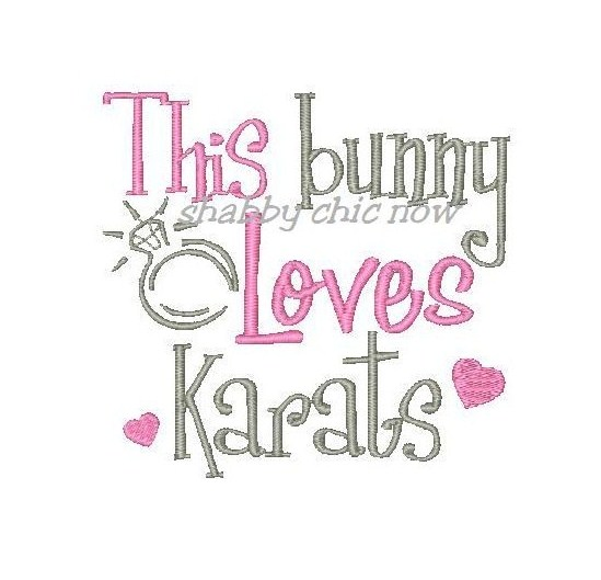 This bunny Loves Karats