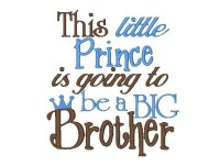 This little Prince is going to be a BIG Brother