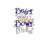 Bears girls wear Bows and Bling