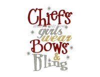 Chiefs girls wear Bows & Bling