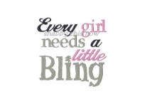 Every girl needs a little Bling