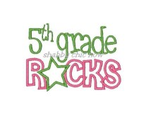 Fifth grade Rocks Applique