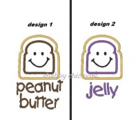 Peanut Butter and Jelly Applique 4x4 ONLY