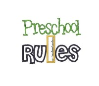 Preschool Rules Applique
