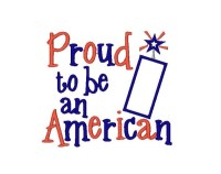Proud to be an American Applique