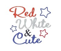 Red White & Cute with stars