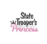 State Trooper's Princess with Crown