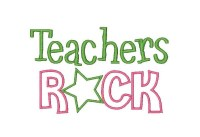 Teachers Rock Applique