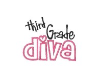 Third grade diva Applique