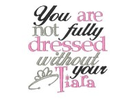 You are not fully dressed without your Tiara